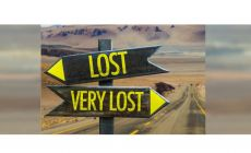 signpost pointing to Lost and VeryLost